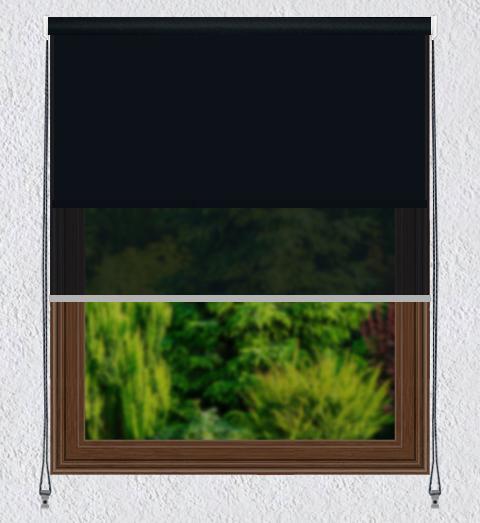 Persiana Enrollable 2 en 1 Screen Negro