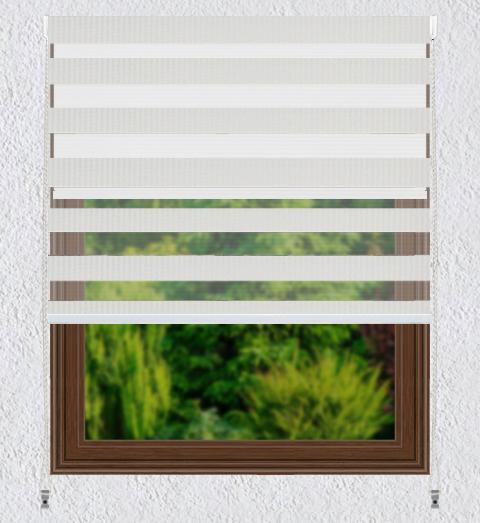 Persiana Enrollable 2en1 Black Out + Sheer Screen Blanco