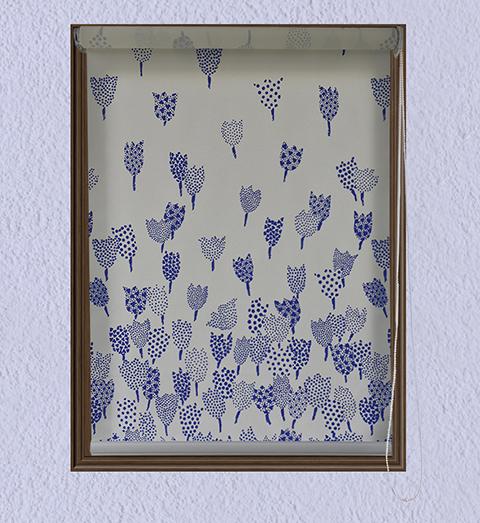 Persiana Enrollable Trasluz Tulips Azul